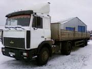 МАЗ-5432А3,  2008г,  + полуприцеп МАЗ-938662,  2008г,  бортовой длина 13, 6