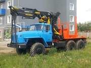 Новый лесовоз Урал 55571,  с манипулятором Лизинг Завод Гарантия